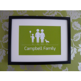Symbolic Family Personalised Family Gift Idea Print A4