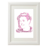 Niall Horan One Direction Style Typography Gift Print - A4