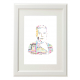 Robbie Williams Style Typography Gift Print - A4