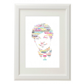Louis One Direction Style Typography Gift Print - A4