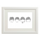 Beatles Style Typography Gift Print - A4