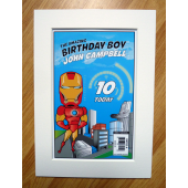 Generic Super Hero Personalised Comic Cover - A4 Mount Special Edition Print