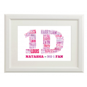 Personalised One Direction Style Typography Gift Print - A4