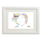 Harry Styles One Direction Style Typography Gift Print - A4