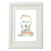 Gary Barlow Style Typography Gift Print - A4
