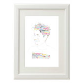 Dan Smith Bastille Style Typography Gift Print - A4