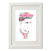 Zayn One Direction Style Typography Gift Print - A4