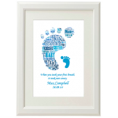 NEW BORN Baby Boy Typography Picture Print Gift Present Wall Art Present A4